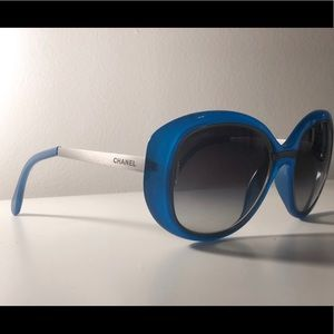 Blue CHANEL Sunglasses